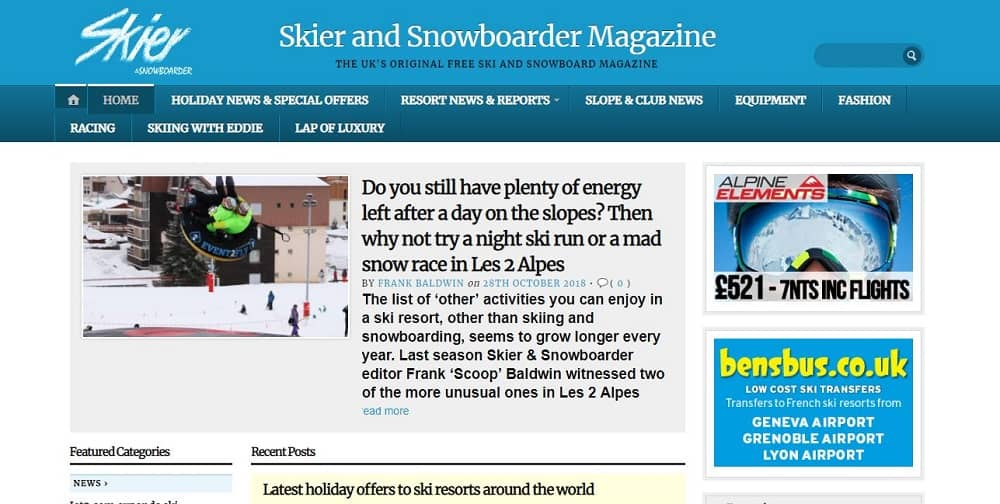 Skier and Snowboarder Magazine